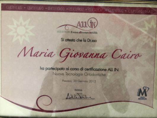 Maria Giovanna Cairo  - Multimedia