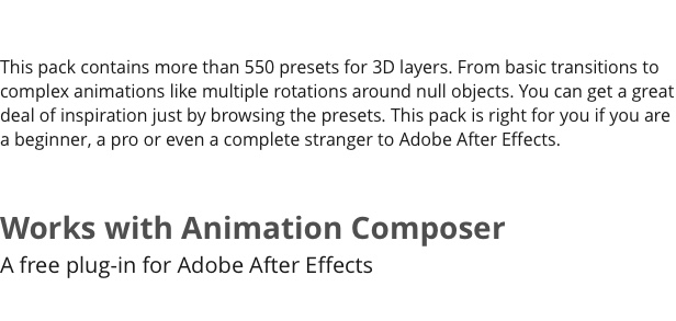 3D Motion Presets for Animation Composer - 6