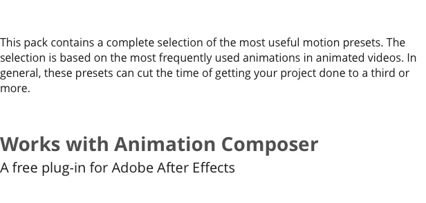 The Most Handy Motion Presets for Animation Composer - 7