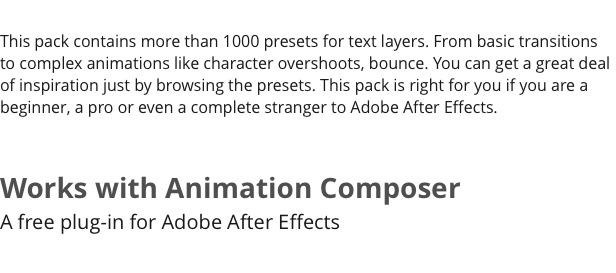 Text Preset Pack for Animation Composer - 7