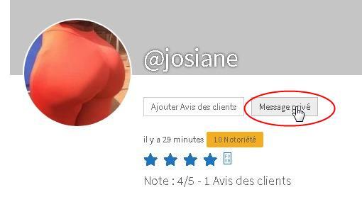 Envoyer un message privé à une masseuse de Madagascar sur son profil