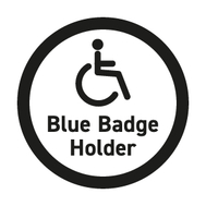 Disabled parking available for Blue Badge holders