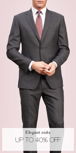 elegant suits - up to 40% off