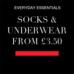 everyday essentials - socks and underwear from £3.50