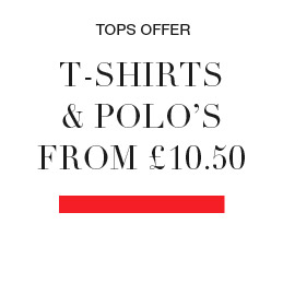 tops, t-shirts and polo's from £10.50