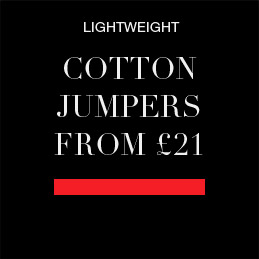 lightweight cotton jumpers from £21
