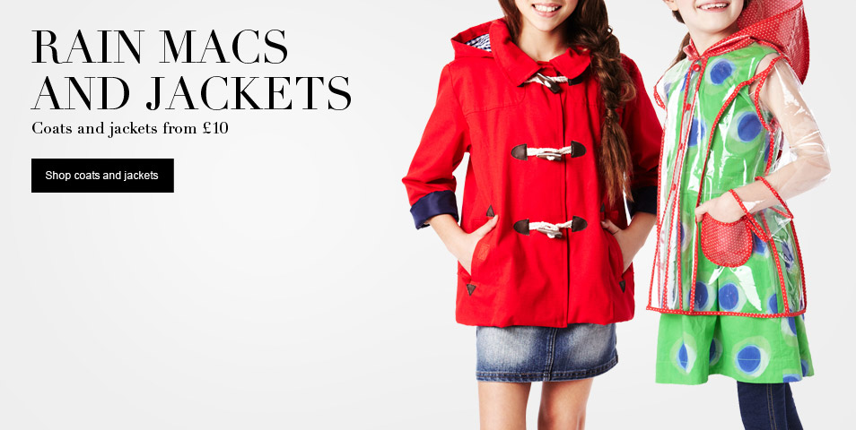 rain macs and jackets from £10