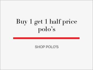 Buy 1 get 1 half price polo's