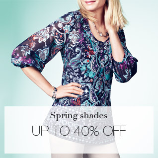 Spring shades - UP TO 40% OFF