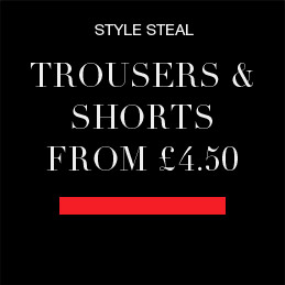 trousers and shorts from £4.50