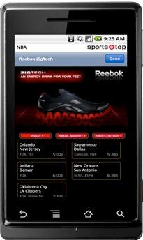 reebok admob campaign