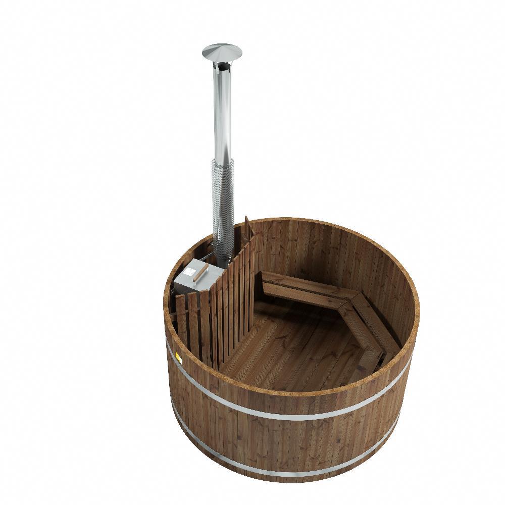 Tunnelmallisia kylpyhetkiä perinteikkäällä Woody L kylpytynnyrillä.