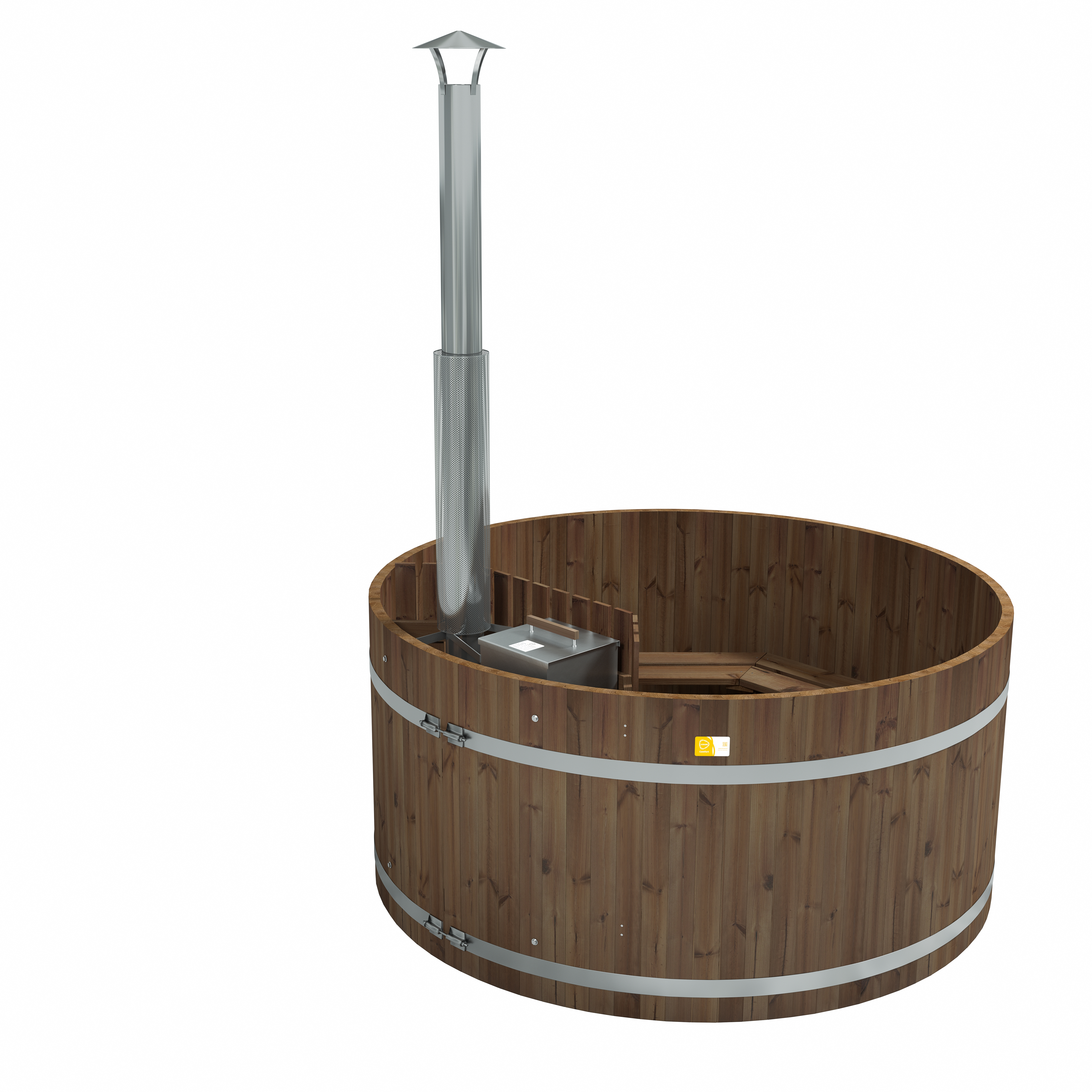 Kirami's Original Woody XL is traditional hot tub for a larger group.