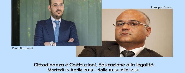 CITTADINANZA E COSTITUZIONI - EDUCAZIONE ALLA LEGALITA'