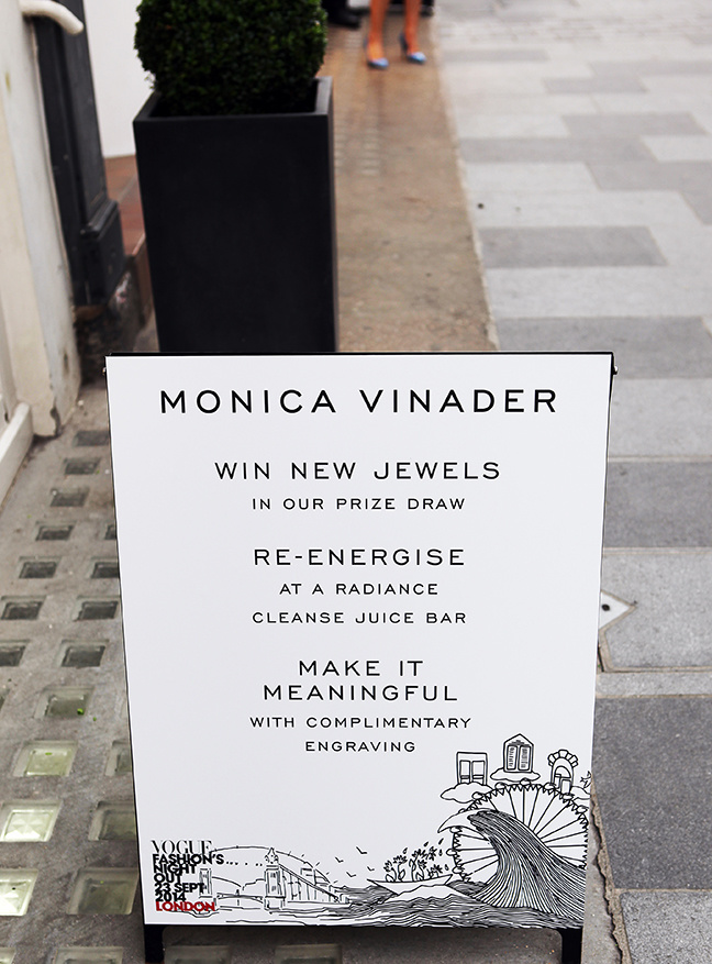 Vogue Fashion's Night Out at Monica Vinader