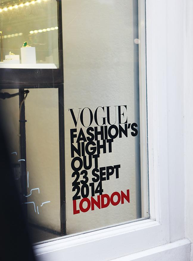 Vogue Fashion's Night Out window