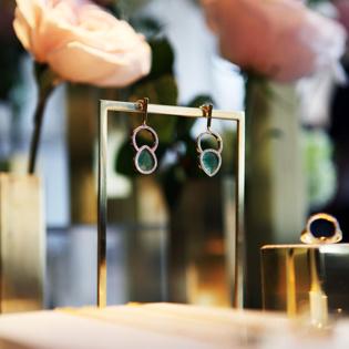 Diva Green Aventurine Earrings
