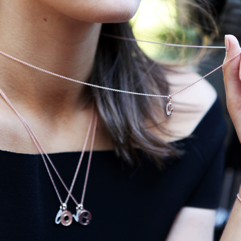 Style Diamond Alphabet Pendant