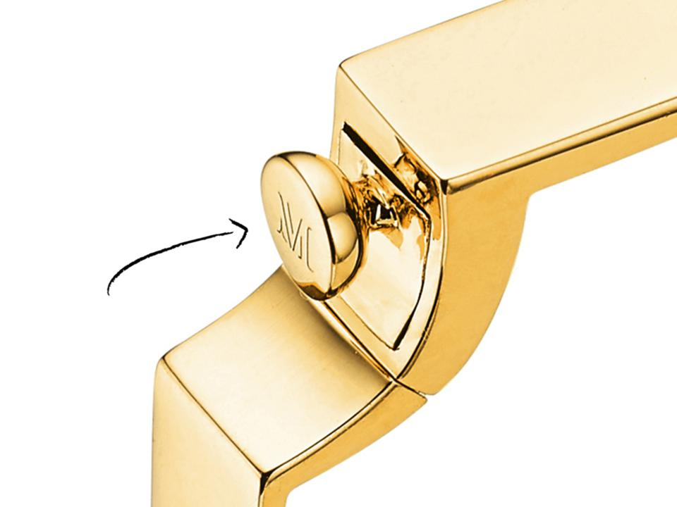 Signature Bangle 18ct  Gold Vermeil Snap Fastener