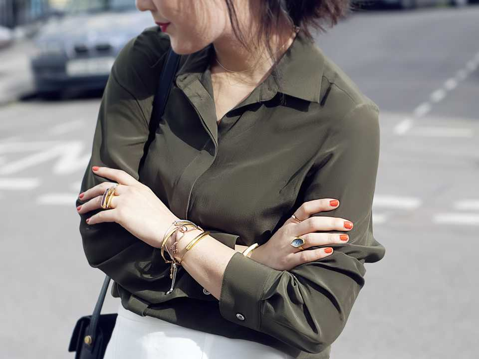 Blogger Shini Park wearing Monica Vinader