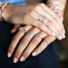 Rose Gold Vermeil Riva Diamond Wave Triple Ring - Diamond - Monica Vinader