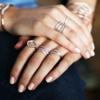 Rose Gold Vermeil Riva Diamond Circle Ring - Diamond - Monica Vinader