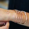 Rose Gold Vermeil Riva Diamond Wave Cuff - Diamond - Monica Vinader