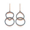 Rose Gold Vermeil Naida Kiss Open Cocktail Earrings - Blue Diamond - Monica Vinader