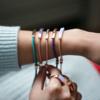 Rose Gold Vermeil Linear Stone Bracelet - Amethyst - Monica Vinader