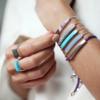 Linear Stone Bracelet - Turquoise - Monica Vinader