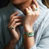 Gold Vermeil Linear Stone Ring - Amazonite - Monica Vinader