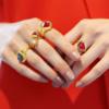 Gold Vermeil Petra Stacking Ring - Moonstone - Monica Vinader
