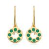 Gold Vermeil Pop Earrings - Green Onyx - Monica Vinader