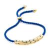 Gold Vermeil Esencia Scatter Friendship Bracelet - Royal Blue - Monica Vinader