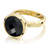 Gold Vermeil Medina Facet Ring - Black Onyx - Monica Vinader
