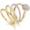 Gold Vermeil Ava Button Ring - Diamond - Monica Vinader
