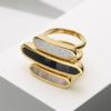Gold Vermeil Baja Ring - Diamond Still Life