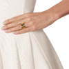 Gold Vermeil Siren Scatter Wide Band Ring - White Topaz model