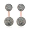 Rose Gold Vermeil Stellar Earrings - Blue Diamond - Monica Vinader