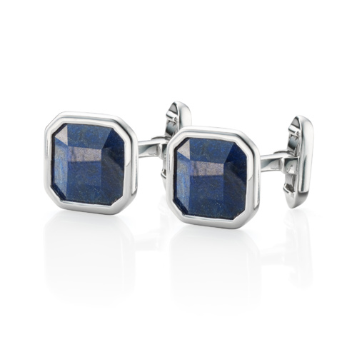 Gem Square Cufflinks - Dumortierite - Monica Vinader