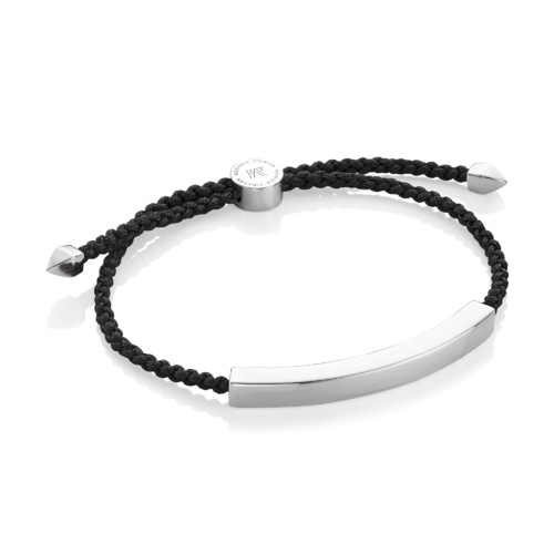 Linear Large Friendship Bracelet - Black - Monica Vinader