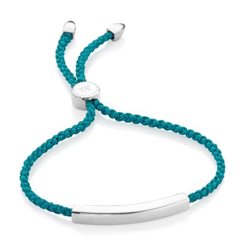 Linear Friendship Bracelet - Turquoise Metallica - Monica Vinader