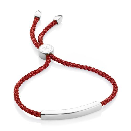 Linear Friendship Bracelet - Red Metallica - Monica Vinader