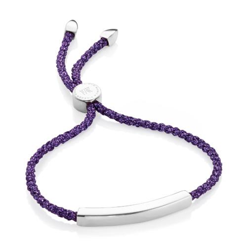 Linear Friendship Bracelet - Purple Metallica - Monica Vinader