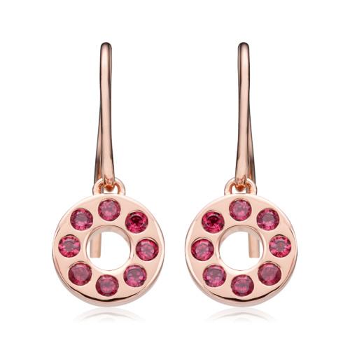 Rose Gold Vermeil Pop Earrings - Hyderabadi Garnet - Monica Vinader
