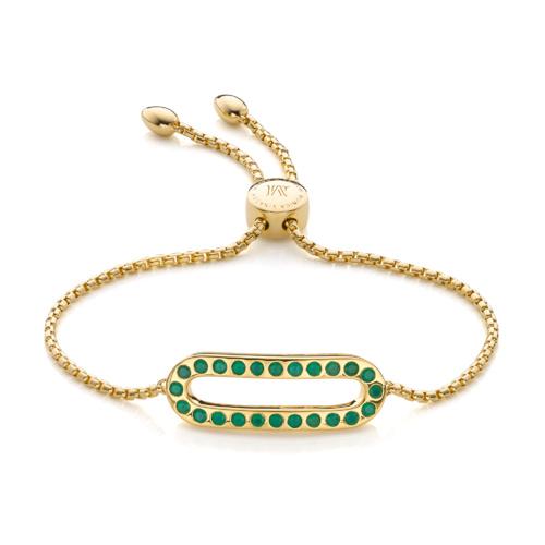 Gold Vermeil Pop Bracelet - Green Onyx - Monica Vinader