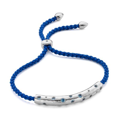Esencia Scatter Friendship Bracelet - Royal Blue - Monica Vinader