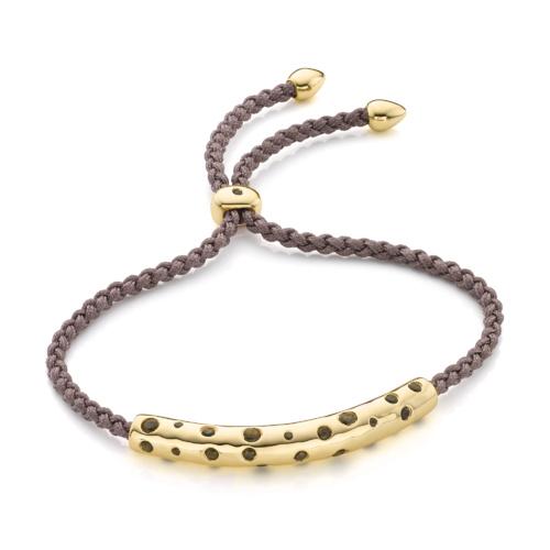 Gold Vermeil Esencia Scatter Friendship Bracelet - Mink - Monica Vinader