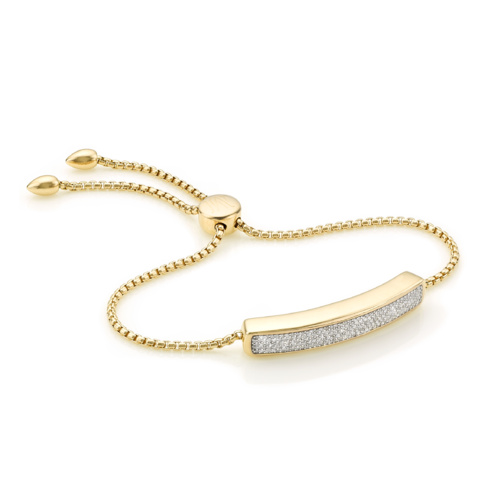 Gold Vermeil Baja Diamond Bracelet - Diamond - Monica Vinader