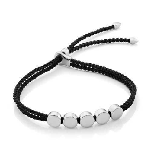 Linear Bead Friendship Bracelet - Black - Monica Vinader